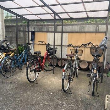 自転車置場完備。