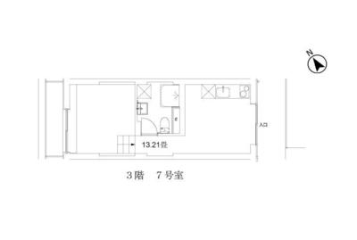玉川台のアパートメント A棟の間取り
