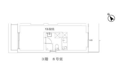 玉川台のアパートメント A棟の間取り図