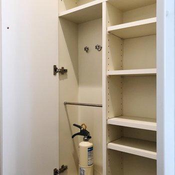 傘置き場などの棚がある靴箱です。※写真は1階の反転間取り別部屋のものです。2021年1月下旬、先行申込可能のお部屋です。