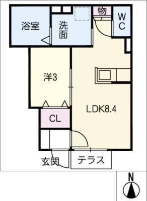 仮)D-room徳川の間取り