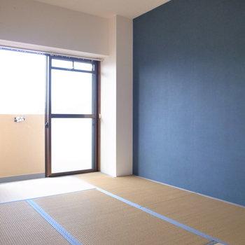 和室はネイビーの差し色です!