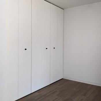 【洋室】クローゼットはこちらに2箇所あります。