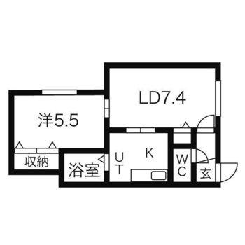 住みやすい1LDKのお部屋。