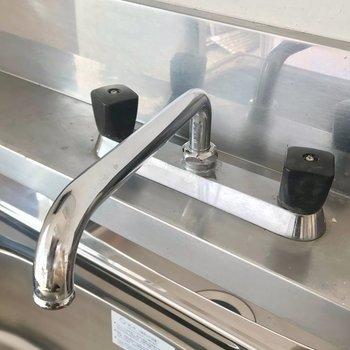 蛇口は黒。お風呂も同じように統一されています。