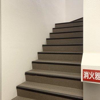 幅広の階段なので搬入がしやすそうです。
