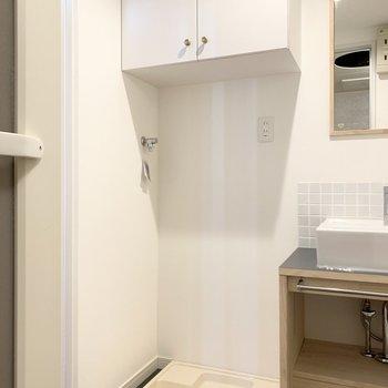 洗濯機置き場もあります。