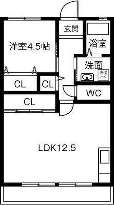 伊藤忠ビル 3B・4A号室の間取り
