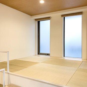 琉球畳の和室になっています!