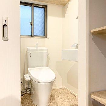 トイレは洗面脱衣所と同室です。