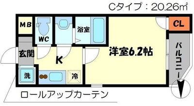 Cottage DainichiⅡの間取り
