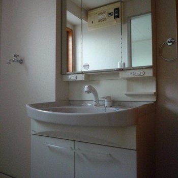 洗面台も独立していて便利!(※写真は4階同間取り別部屋のものです)