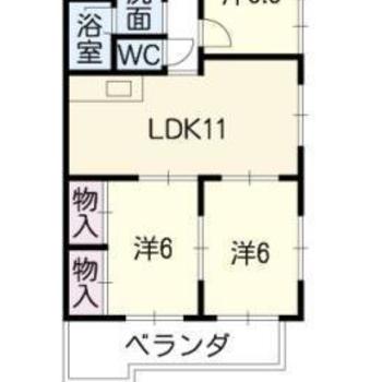 お部屋は3LDKの間取りです。