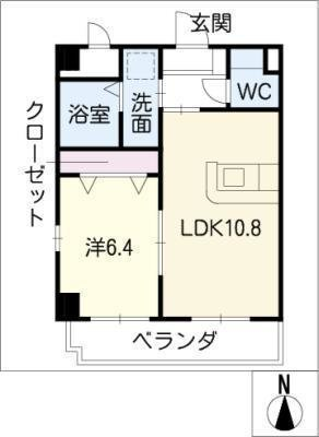 元八事弐風館の間取り