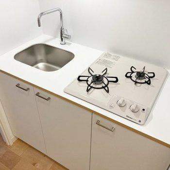 【イメージ】キッチンは2口ガスコンロ
