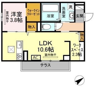(仮)D-room山本3丁目の間取り