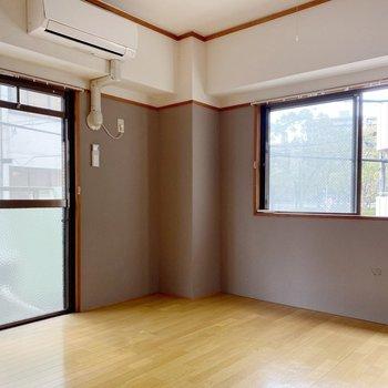 2面採光だから、お部屋が明るくみえますよ〜!
