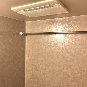 浴室乾燥機付きです!パイプは奥や手前にも渡せます。