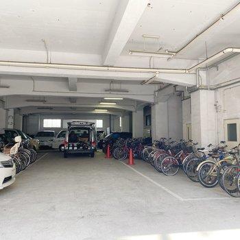 駐輪場はこんなに広い!出し入れは楽チンです◯