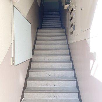 上り下りは階段で。頑張りましょう!
