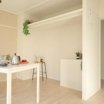 LDK】収納がおもしろい!木部はDIY可能なので、収納に棚などをつくることもできるんです!