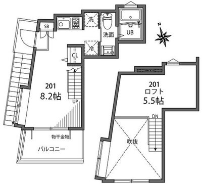 SANCHA APARTMENTの間取り