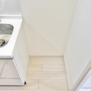 冷蔵庫スペースは確保されていますよ◎※文章・写真は6階反転間取り・別部屋のものです