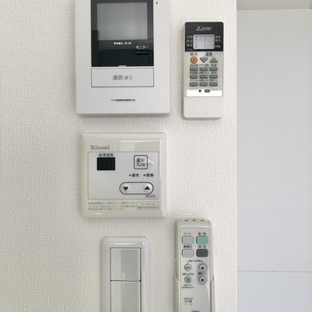 設備のスイッチは1か所にまとまっていました。