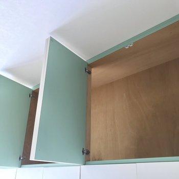 そして天井部にも収納スペースがありました!これならお部屋すっきり。※写真は4階同間取り・別部屋のものです