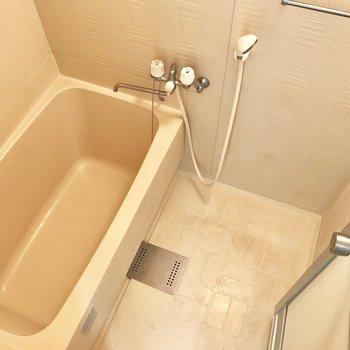 お風呂はすこしコンパクト。※写真は4階同間取り・別部屋のものです