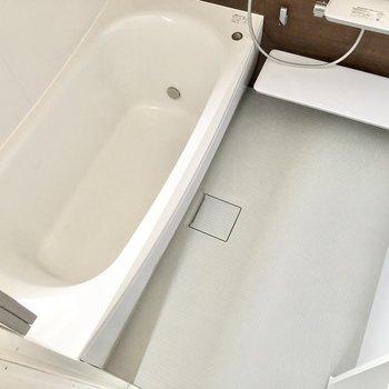 浴槽も洗い場も広々としています。