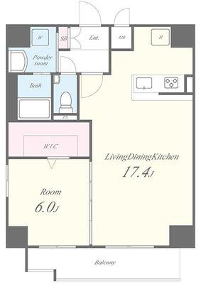 Comfort Residence Nippori(コンフォートレジデンスニッポリ)の間取り