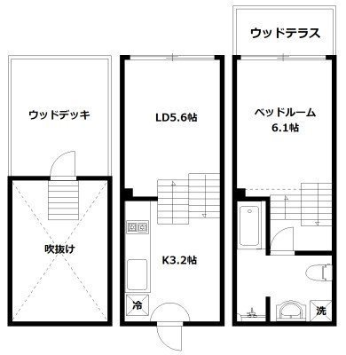 hike~Skip floor terrace house~の間取り