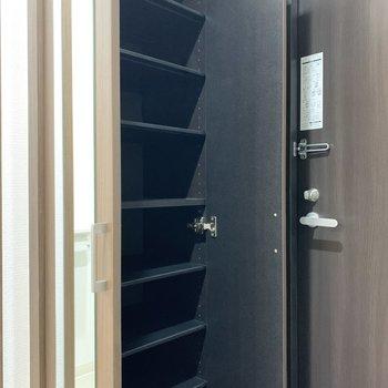 シューズボックスは高さ調節可能で、ブーツなども入れることができます。