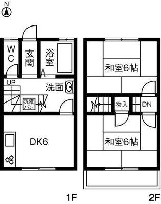 長島アパートAの間取り