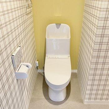 きれいなトイレ。この2種類のクロスがたまりません!
