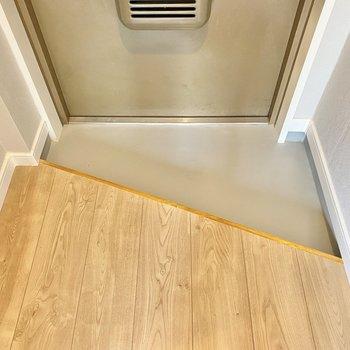玄関はかなりコンパクト!そばに靴箱を置こうかな。
