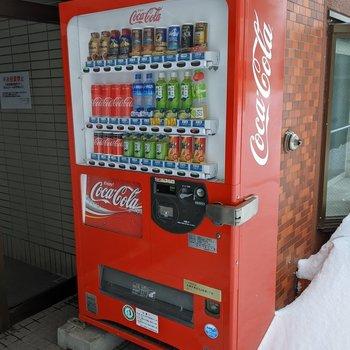 エントランス前に自動販売機があり便利です。