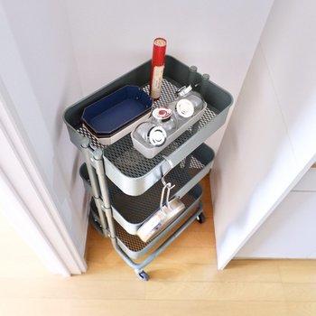 冷蔵庫置き場も確保されていますよ。