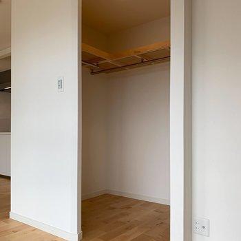 収納はこちらのウォークインクローゼット!※写真は5階同間取り、別部屋のもの
