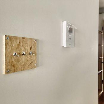 床の材質と合わせたスイッチもこだわり◎