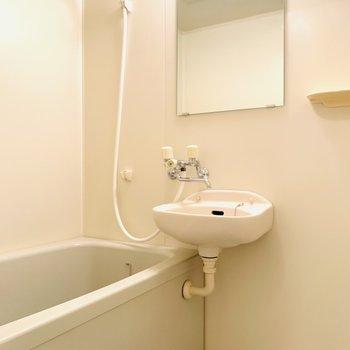 バスルームは2点ユニットです。(※写真は2階の同間取り別部屋のものです)