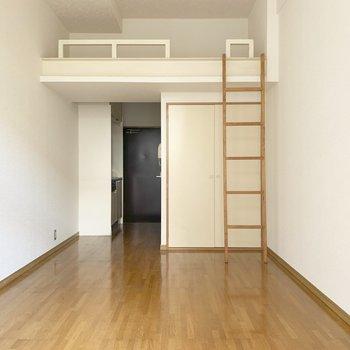 ロフト付きのワンルームをご紹介※写真は2階の反転間取り別部屋のものです