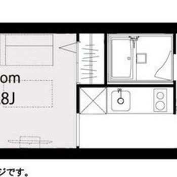 リノベーションが施されたワンルームのお部屋。
