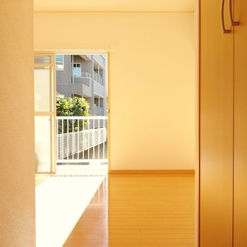バルコニー側の洋室。陽射しがたっぷり射します。