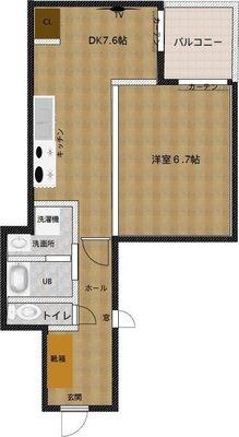 アパートメントホテル椛京都二条の間取り