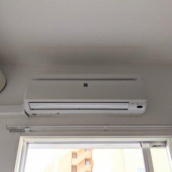 【洋室】エアコン付きなので夏場も涼しく暮らせます。