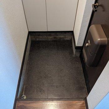 広めで身支度がしやすい玄関スペース。