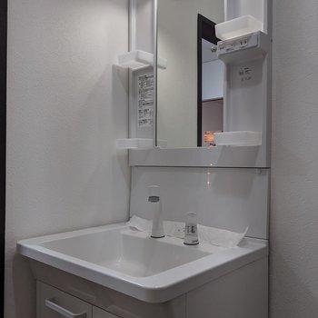 洗面台は独立式。身支度がしやすいですね。