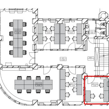 赤枠の場所が201です